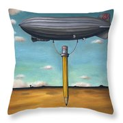 Lead Zeppelin Throw Pillow by Leah Saulnier The Painting Maniac