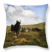 Leader Of The Herd Throw Pillow