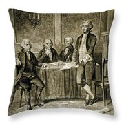 Leaders Of The First Continental Congress Throw Pillow