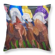 Leading The Pack Throw Pillow