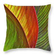Leaf Abstract 3 Throw Pillow