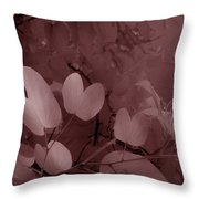 Leaf And Flower 2 Throw Pillow