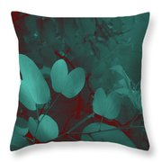 Leaf And Flower 3 Throw Pillow