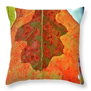 Leaf Behind Throw Pillow