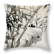 Leaf C Throw Pillow by Rang Tian
