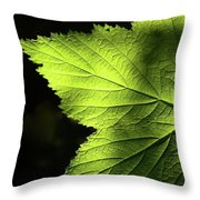 Greenvein  Throw Pillow