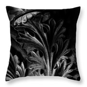 Leaf Detail 2 Black And White Throw Pillow