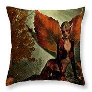 Leaf Elf Throw Pillow