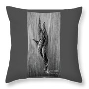 Leaf Entwined In Black And White Throw Pillow