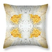 Leaf Explosion Throw Pillow