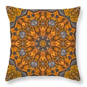 Leaf Glow Throw Pillow