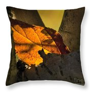Leaf In Fork Throw Pillow