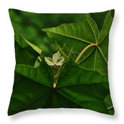 Leaf In The Middle Throw Pillow