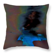 Leaf In Water Throw Pillow