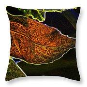 Leaf Interpretation Throw Pillow