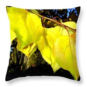 Leaf Line Throw Pillow