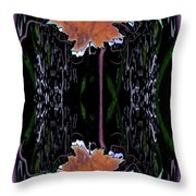 Leaf Melding Throw Pillow