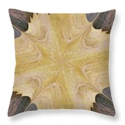 Leaf On Bricks 6 Throw Pillow