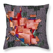 Leaf On Stone 2 Throw Pillow