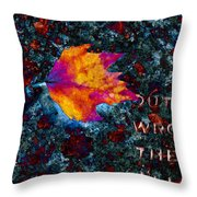 Leaf On Stone Throw Pillow