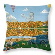 Leaf Peeping In Northern Maine Throw Pillow