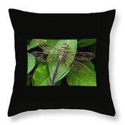 Leaf Poser Throw Pillow