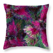 Leaf Power Throw Pillow