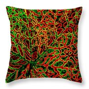 Leaf Segment Abstract Throw Pillow