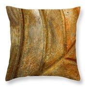 Leaf Structur Throw Pillow