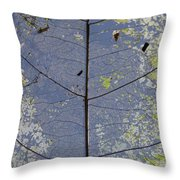 Leaf Structure Throw Pillow by Debbie Cundy