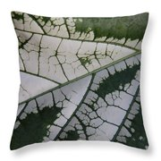 Leaf Variegated 1 Throw Pillow