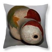 Leaf Vase Throw Pillow