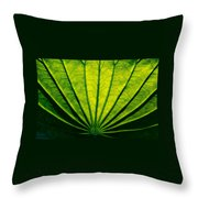 Leaf Veins Throw Pillow