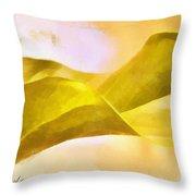 Leaf Y Throw Pillow