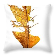 Leafcarving Throw Pillow