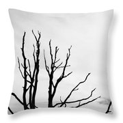 Leafless Tree Throw Pillow