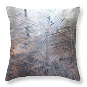 Leafs And Ice Throw Pillow