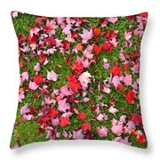 Leafs On Grass Throw Pillow