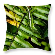 Leafy Lizard Throw Pillow