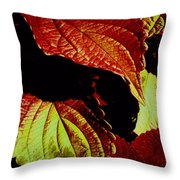 Leafy Melange Throw Pillow