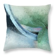 Leafy Pipe Throw Pillow