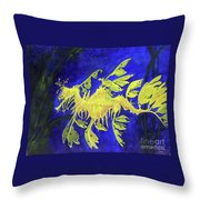 Leafy Sea Dragon 1 Throw Pillow by Lucien Van Oosten