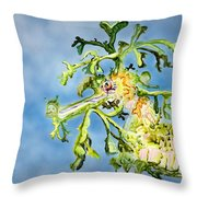Leafy Sea Dragon Throw Pillow by Tanya L Haynes - Printscapes