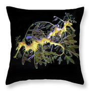 Leafy Sea Dragons Throw Pillow by Anthony Jones