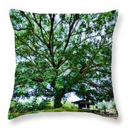 Leafy Tree Throw Pillow