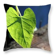 Leafy Veins Throw Pillow