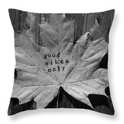 Leafy Vibes Throw Pillow
