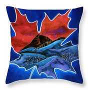 Leafy Vision  Throw Pillow