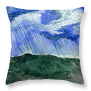 Leaking Sky Throw Pillow