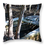 Leaky Boat Throw Pillow